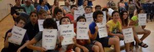 קבלת תעודות גמר סייף קבוצת ילדים